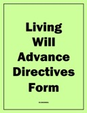Advance Directives Form (Living Will) (PDF)